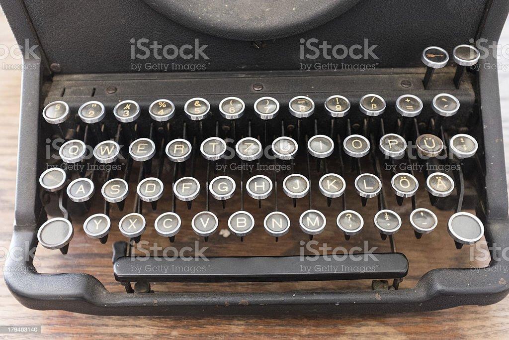 Close-up of a typewriter royalty-free stock photo