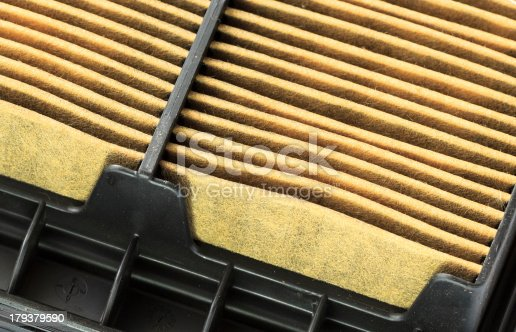 istock Closeup of a Used Air Filter Cartridge 179379590