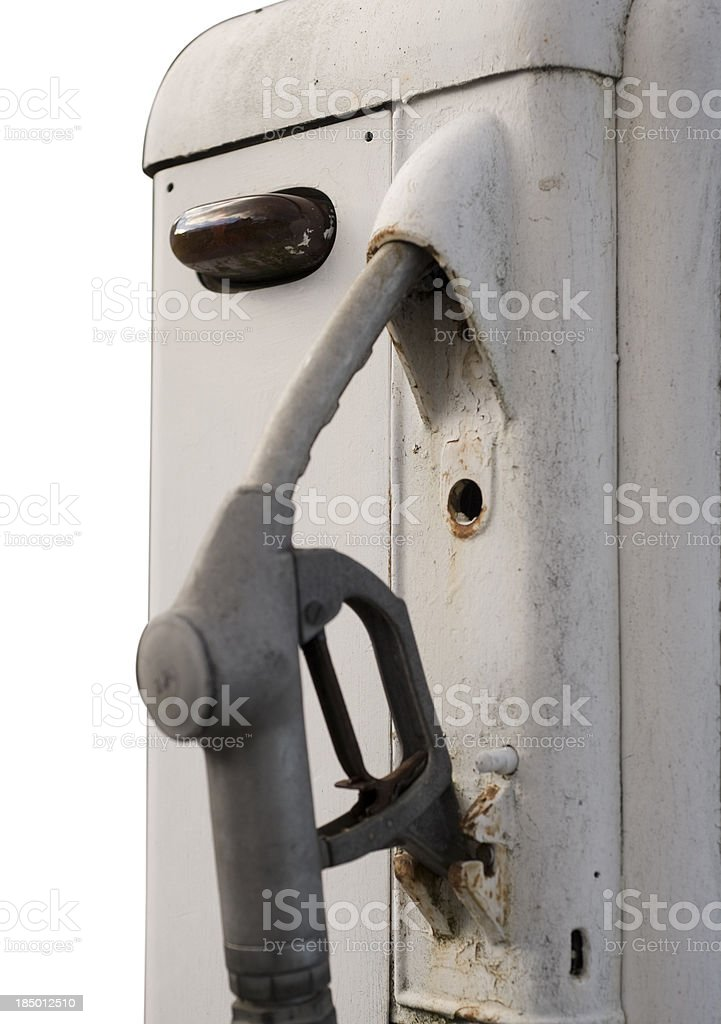 Close-up of a vintage fuel pump royalty-free stock photo