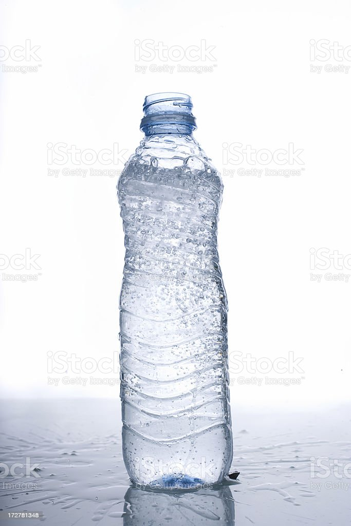 Close-up of a water bottle royalty-free stock photo