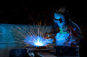 Arc welder with welding sparks