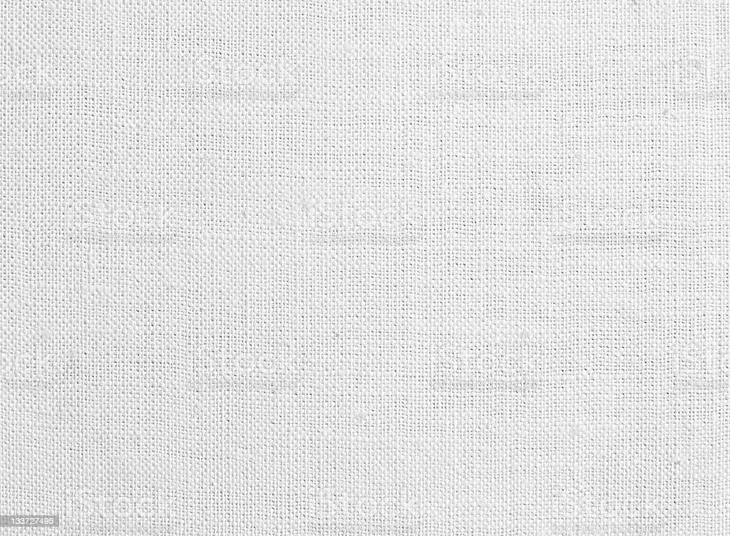 Close-up of a white canvas texture stock photo