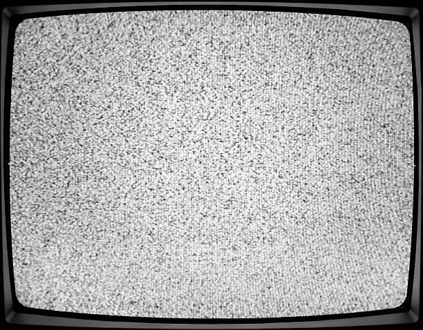 tv televisão estática-retro tech analógica ruído branco - televisão estática imagens e fotografias de stock