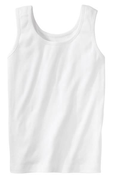 Close-up of a white running vest top stock photo