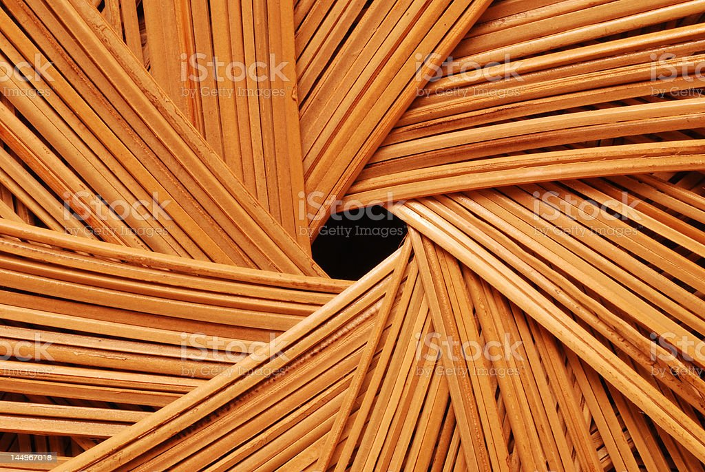 Close-up of a Wicker Chair stock photo