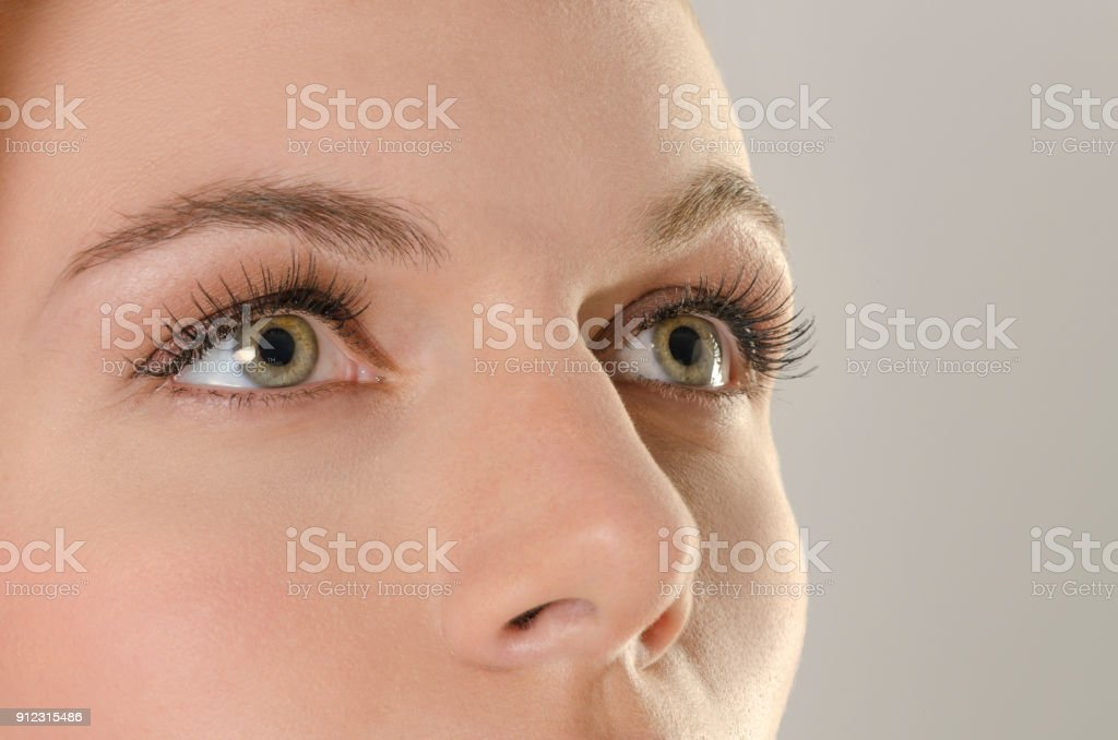 Close-up of a woman's eye stock photo