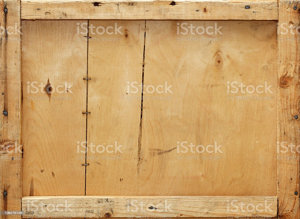 Close-up of a wooden crate background stock photo