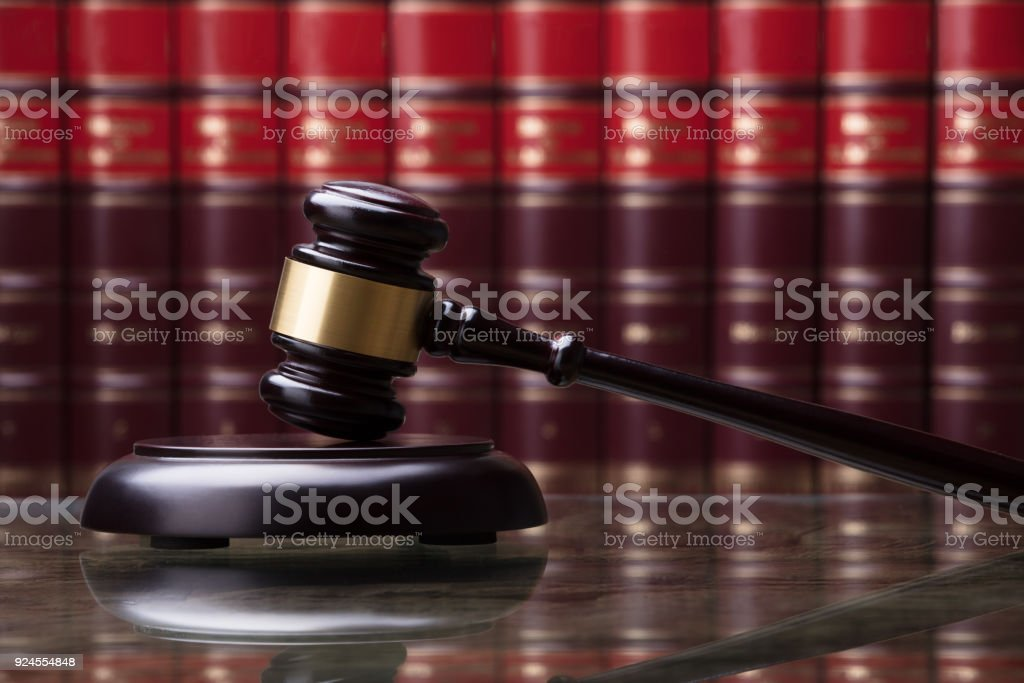 Close-up Of A Wooden Gavel stock photo