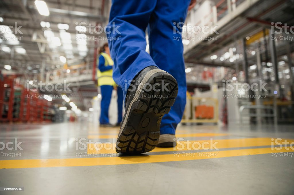 Close-Up of a Workers Boot stock photo