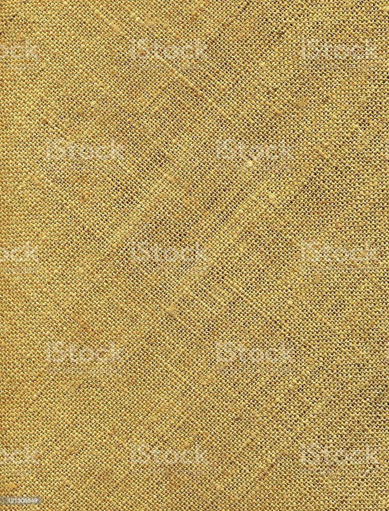 Closeup of a yellowish old burlap royalty-free stock photo