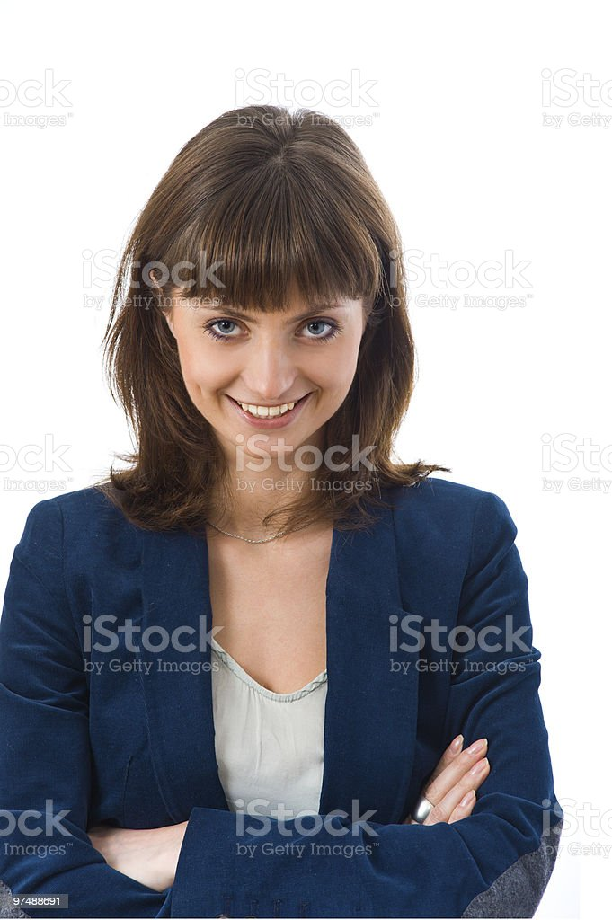 Close-up of a young businesswoman royalty-free stock photo