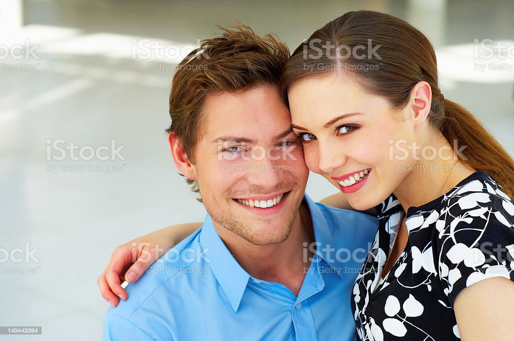 Close-up of a young couple in love royalty-free stock photo