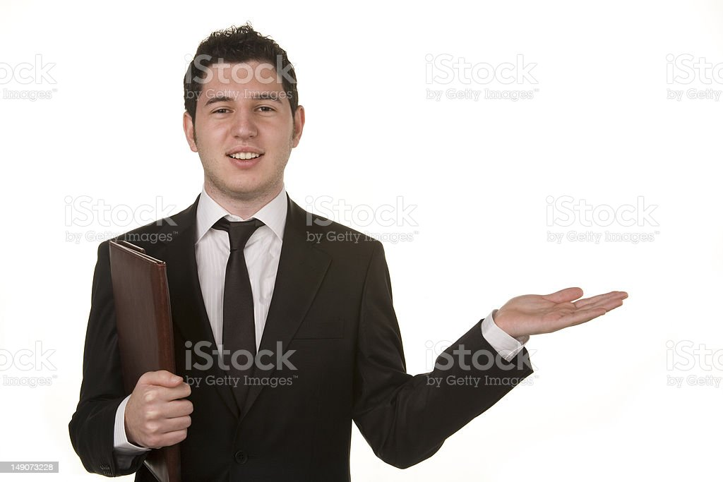 Close-up Of A Young Man Gesturing royalty-free stock photo