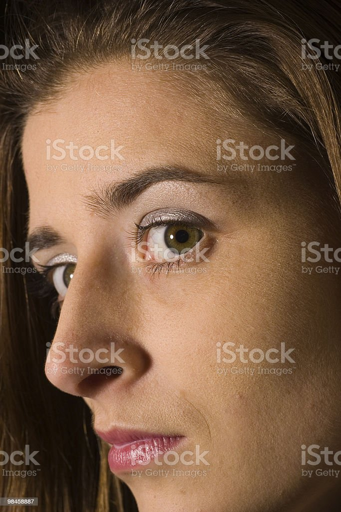 Closeup of a young woman royalty-free stock photo