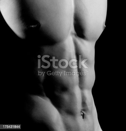 istock Closeup of AB muscles, Male Athlete 175431844