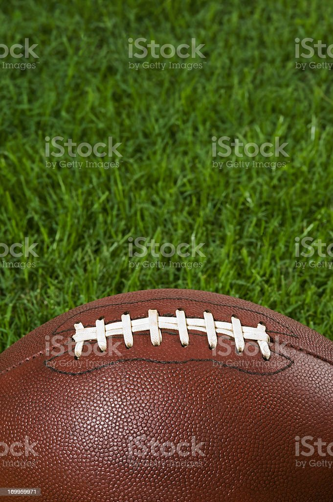 Close-up of aFootball- American Football royalty-free stock photo