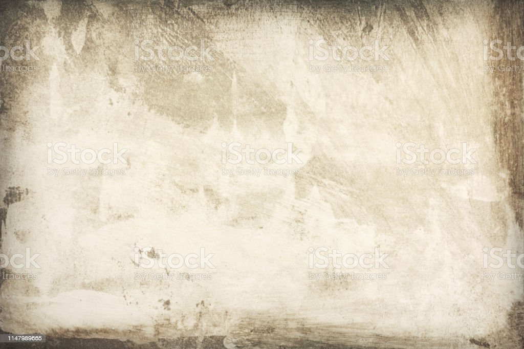 Close-up of aged paper, texture background Background texture of aged paper with stained borders, close-up Abstract Stock Photo