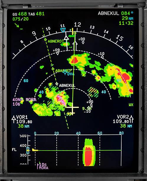 aerei display di navigazione - radar foto e immagini stock