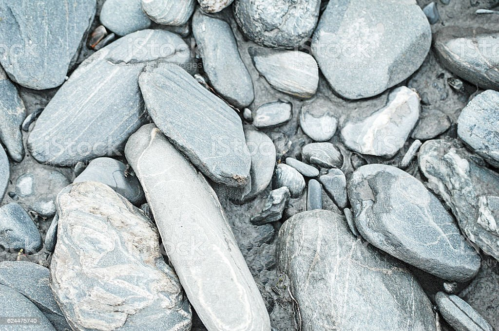 Close-up of Alaskan River Rock stock photo