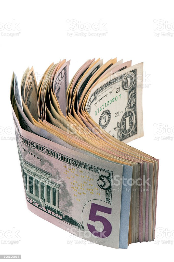 Close-up of American Dollars Bill stock photo