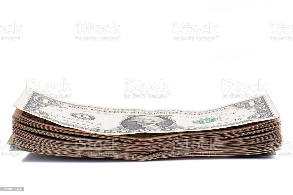 Close-up of American Dollars Bill stock photo