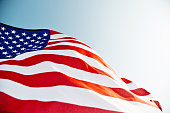 istock Close-up of American flag 1094759516