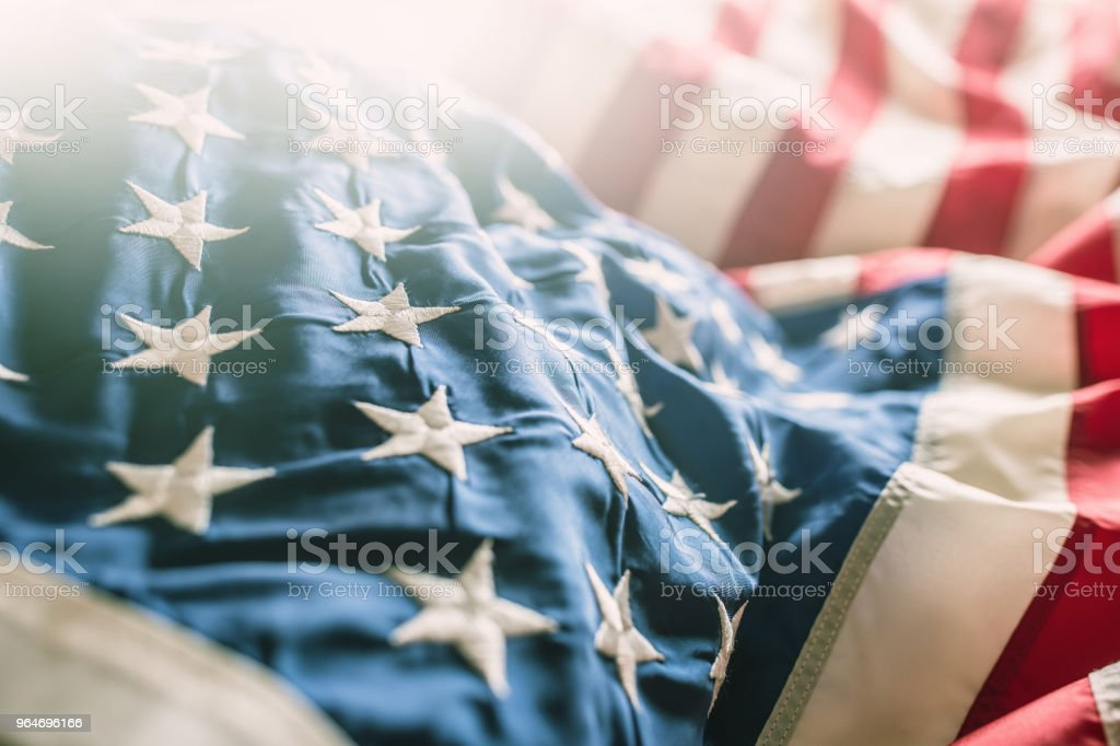 Close-up of american flag stars and stripes royalty-free stock photo