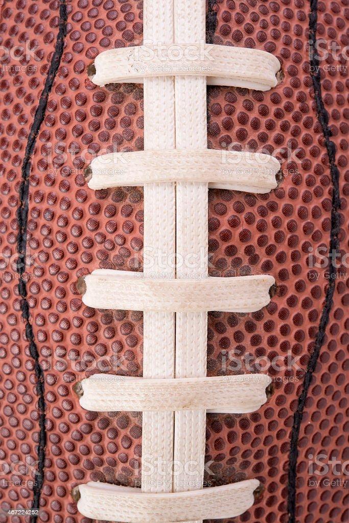 close-up of american football ball stock photo