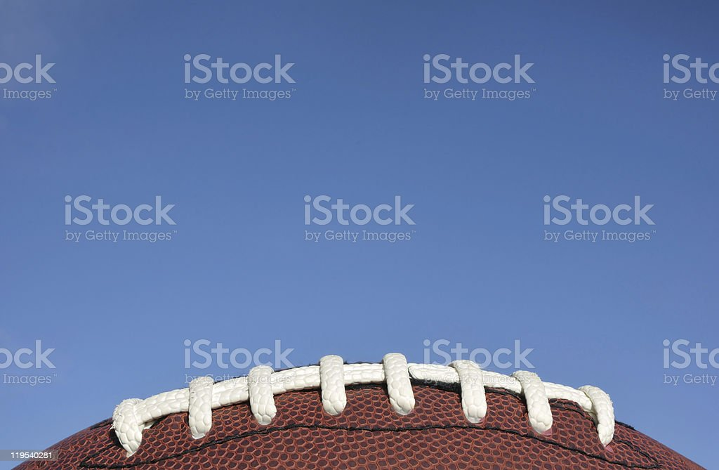 Close-up of American Football Laces stock photo