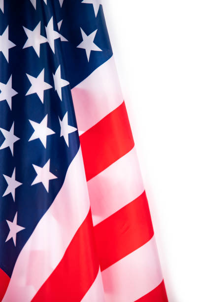 Close-up of american USA flag stock photo