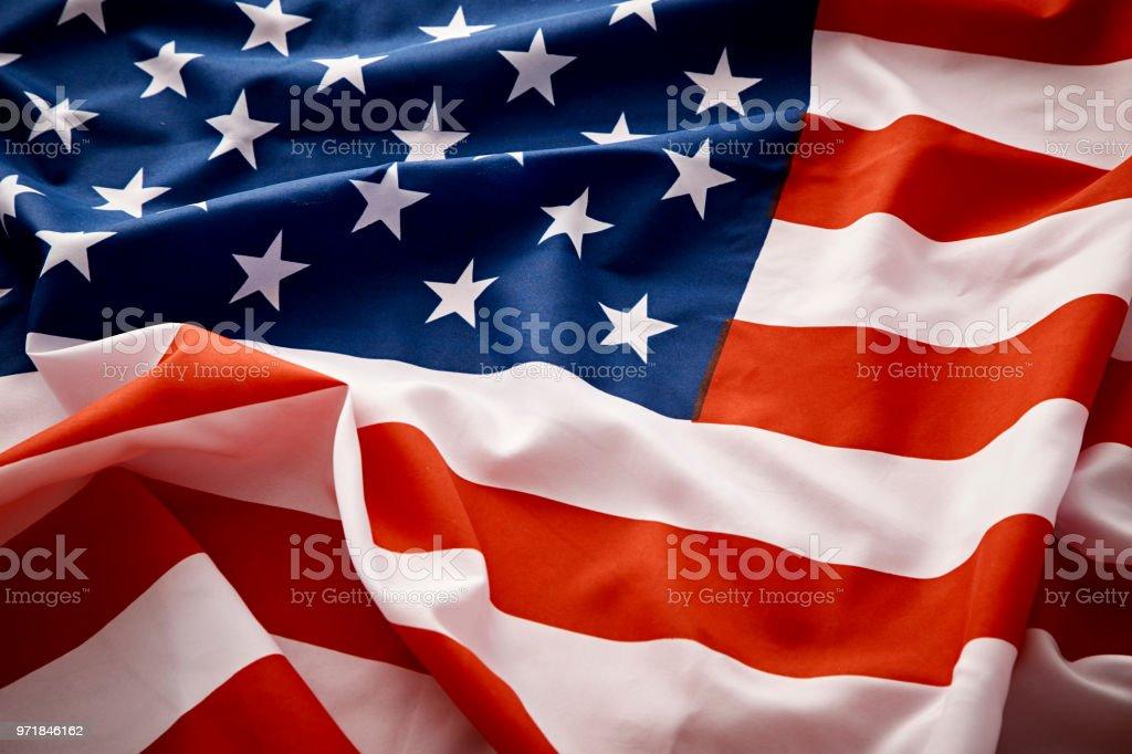 fad5cb4f38de Closeup Of American Usa Flag Stars And Stripes Stock Photo   More ...
