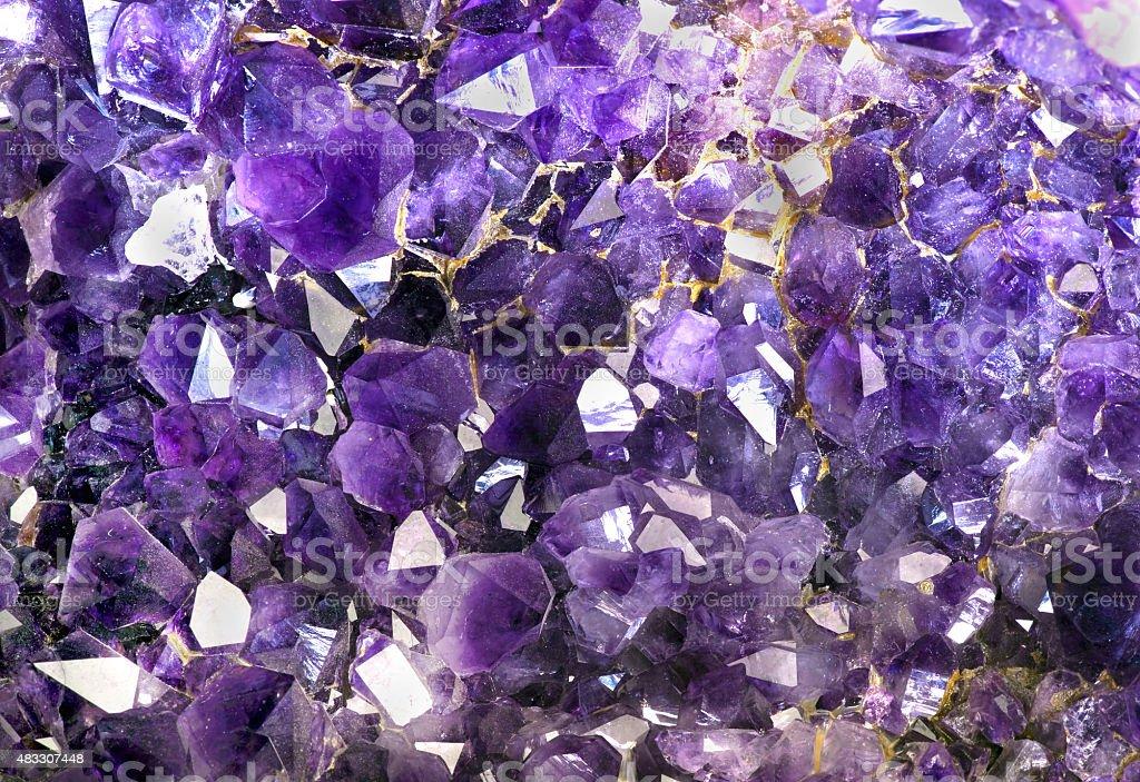 Closeup of Amethyst crystals.. stock photo