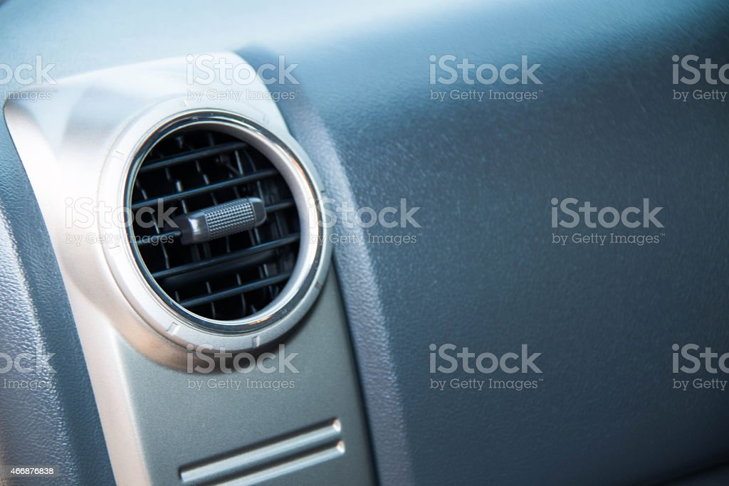 Closeup of an air vent for controlling airflow stock photo