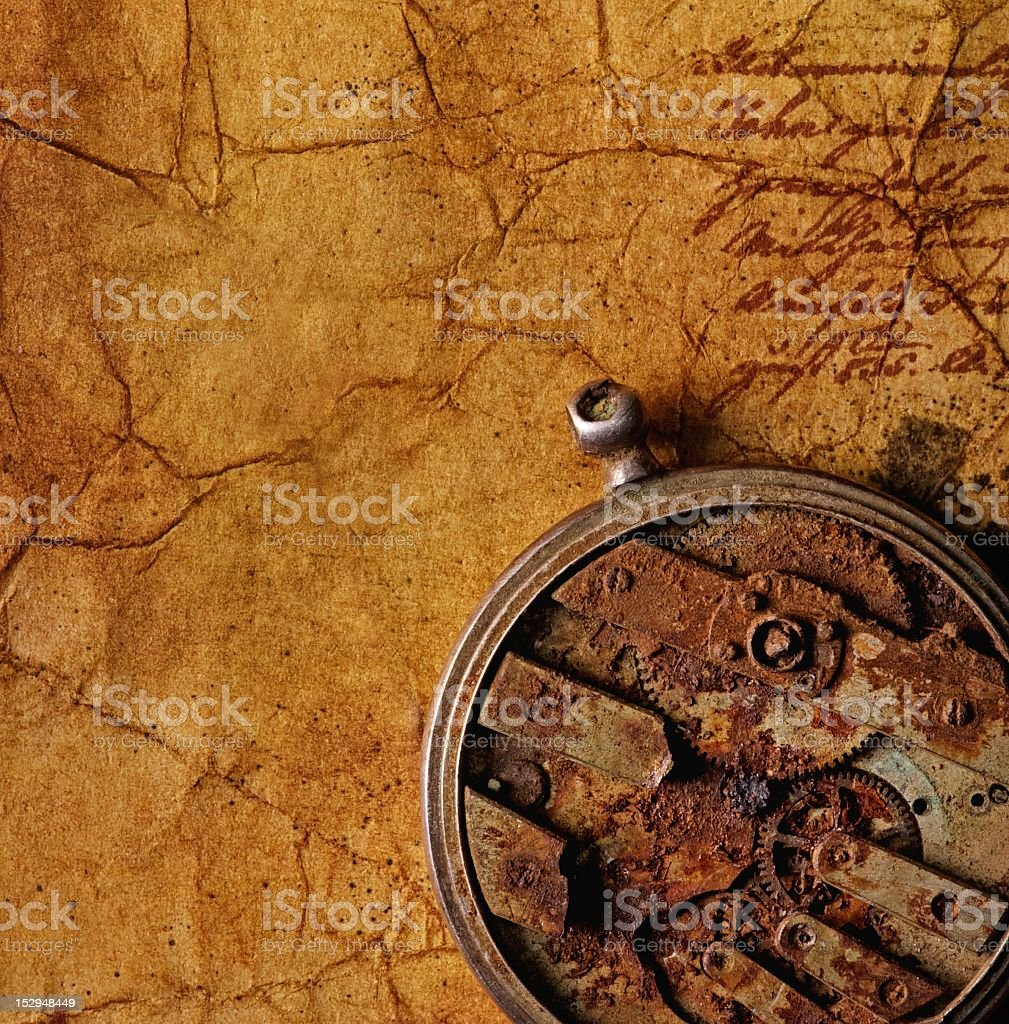 Close-up of an ancient gears royalty-free stock photo