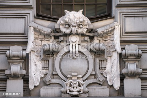 An Art Nouveau ornament on a building built in beginning of the 20th century