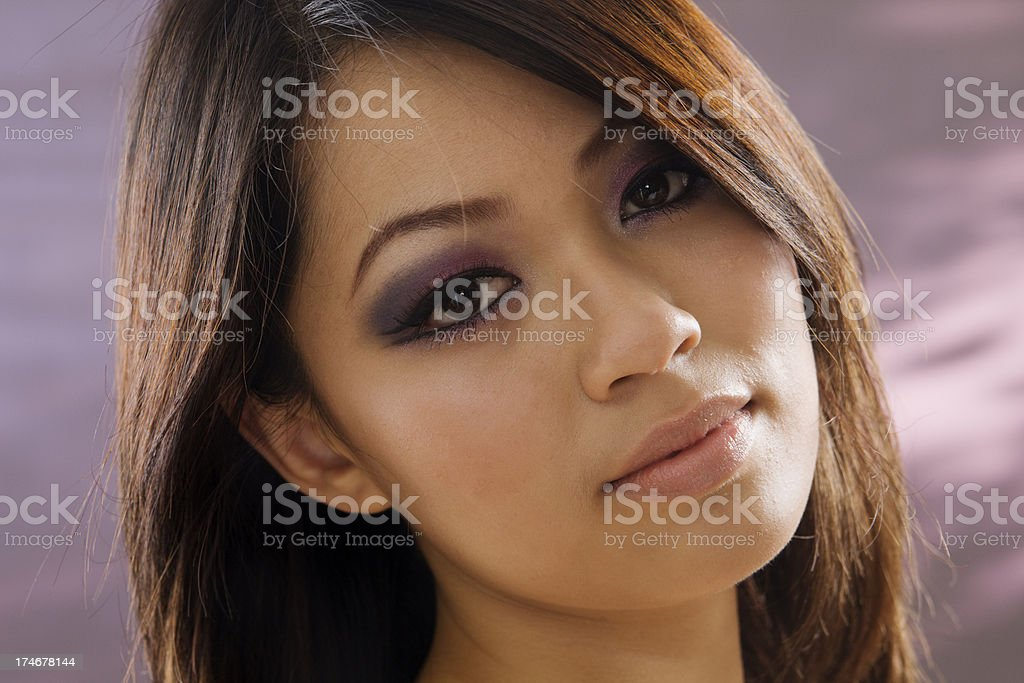 Close-up of an Asian Young Woman royalty-free stock photo