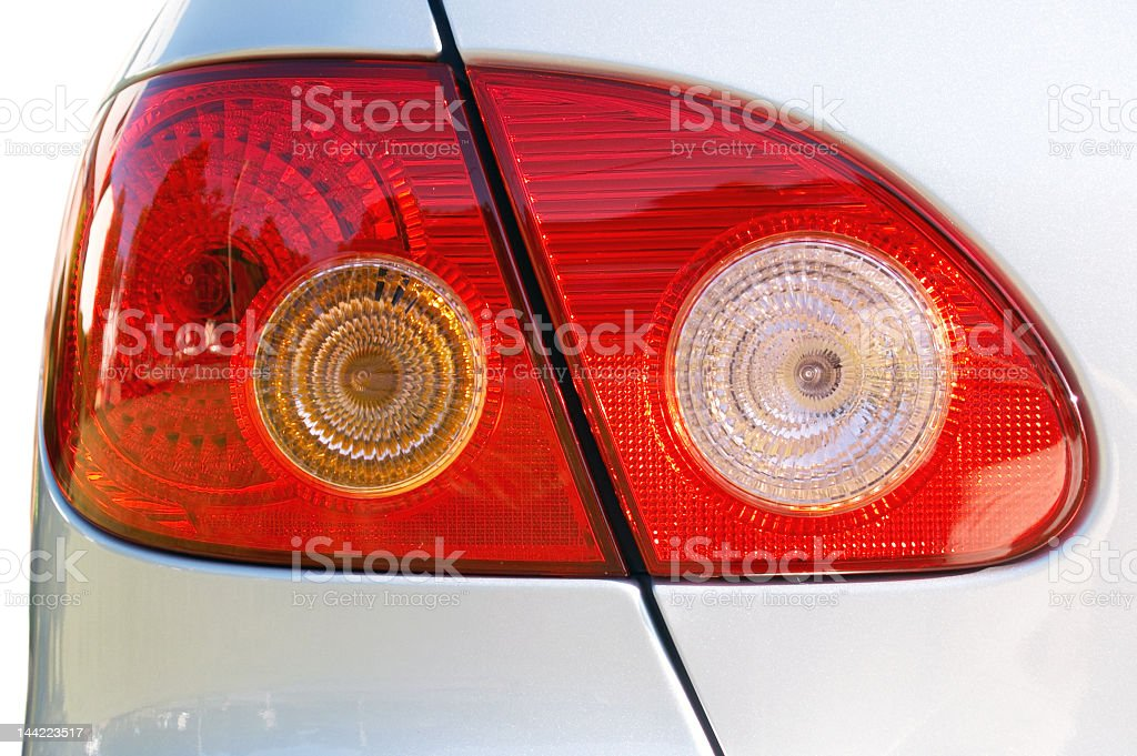 Close-up of an automobile taillight stock photo