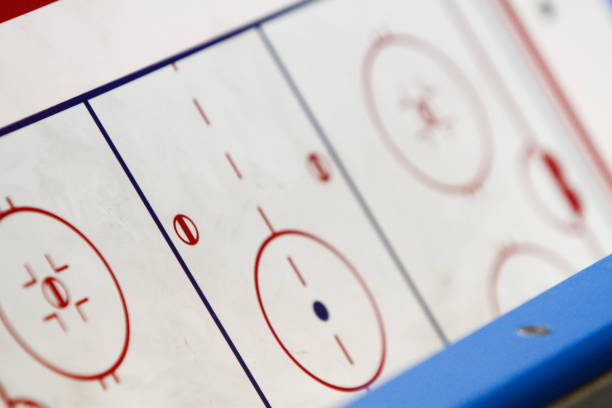 Closeup of an ice hockey flip chart stock photo