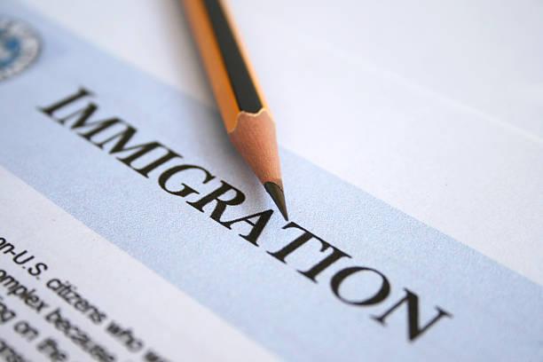 A imigração - foto de acervo