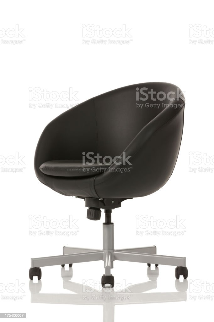 Close-up of an office chair stock photo