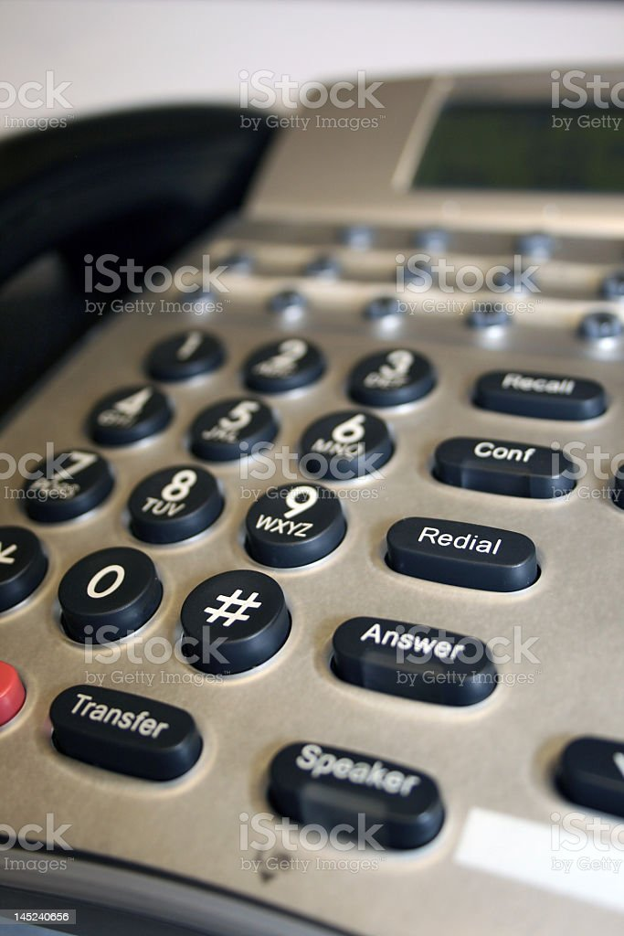 Close-up of an office phone stock photo