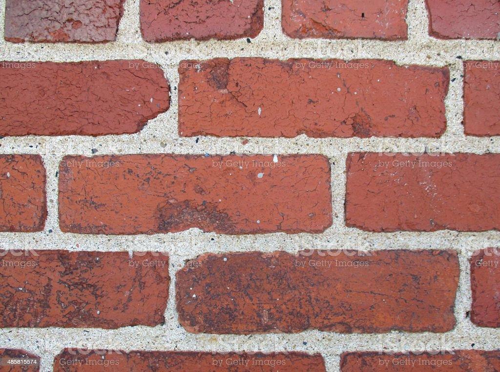 Close-Up of an Old Brick Wall stock photo