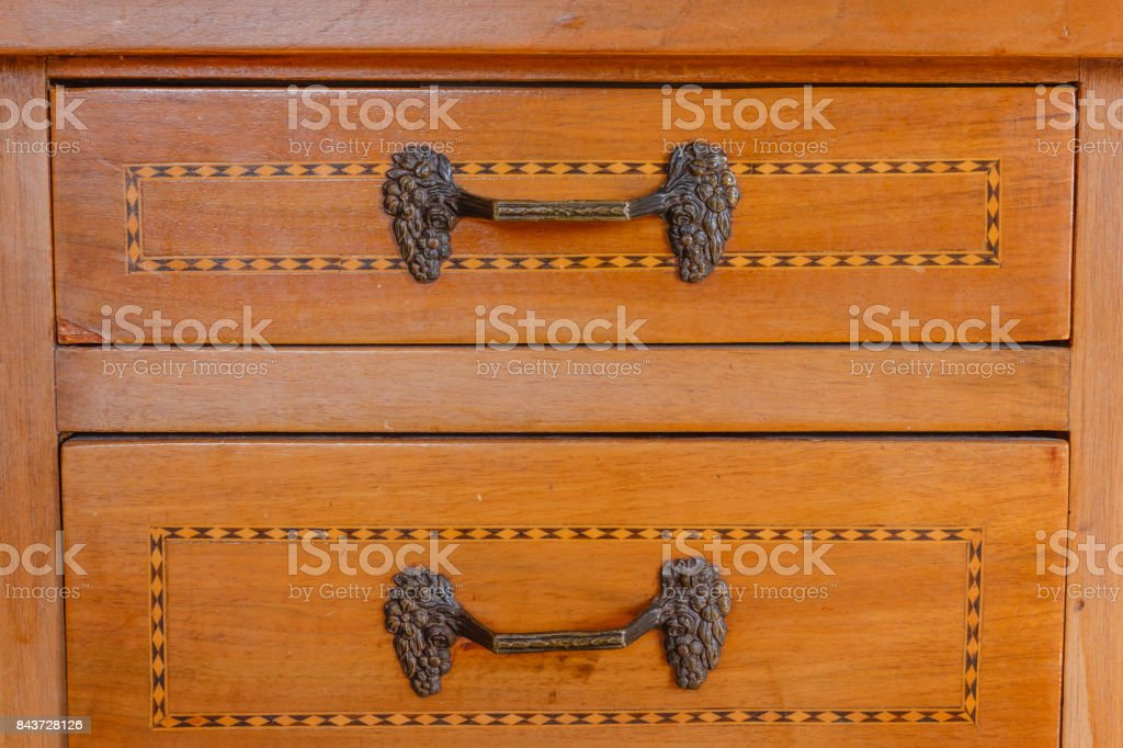 close-up of an old furniture stock photo