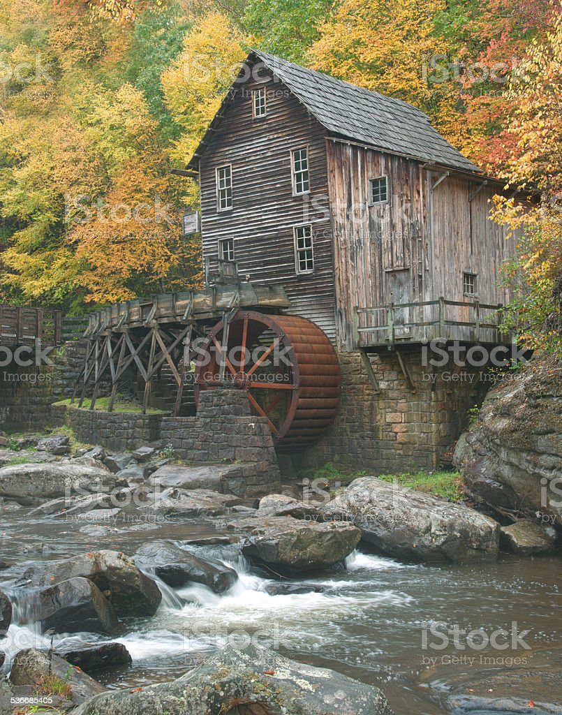 Closeup of an old mill stock photo