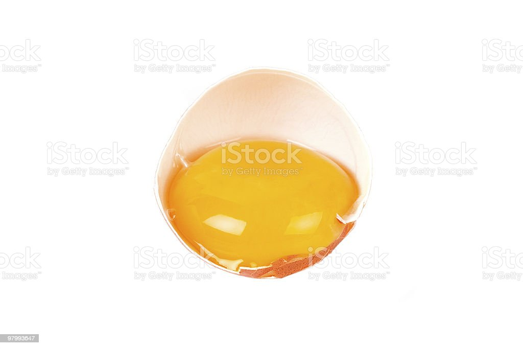 Close-up of an opened egg royalty free stockfoto