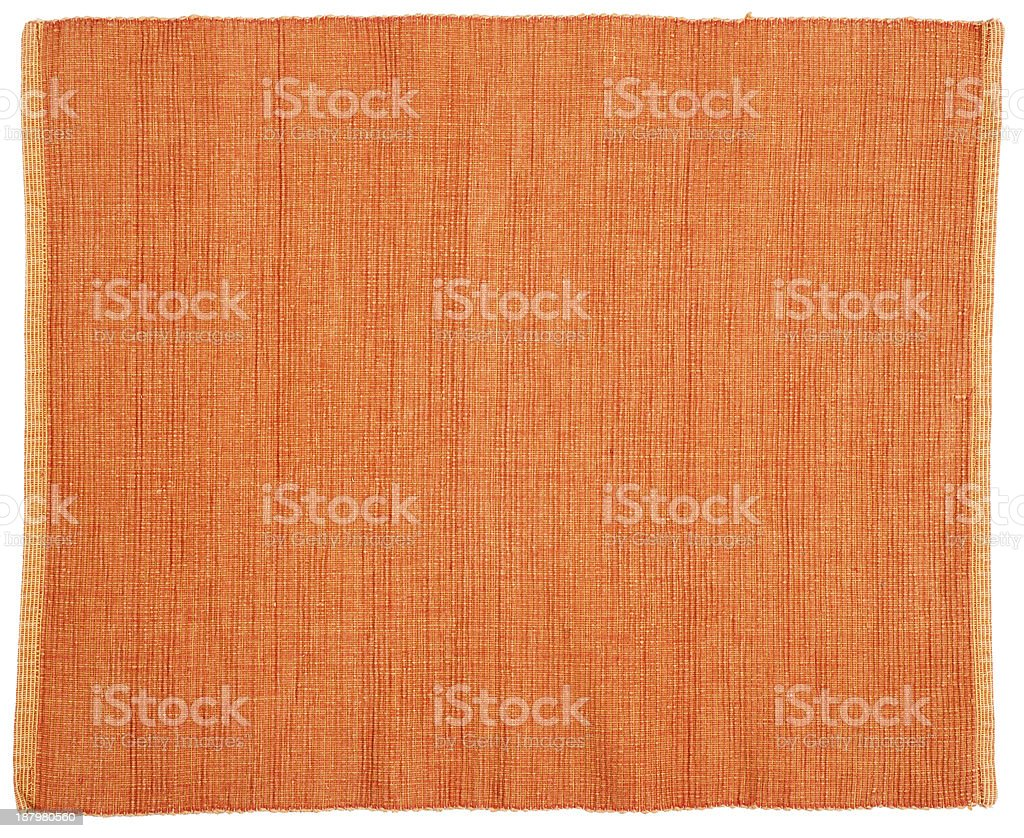 Close-up of an orange fabric background stock photo