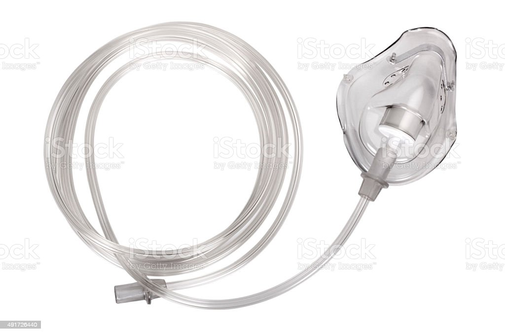 Close-up of an oxygen mask stock photo