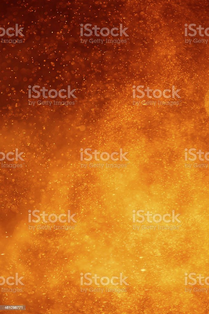 closeup of an volcano eruption stock photo