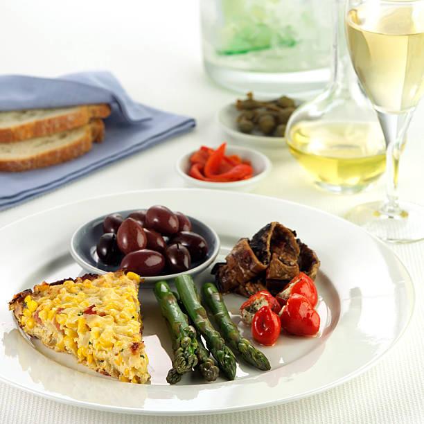 Closeup of Antipasto dish stock photo