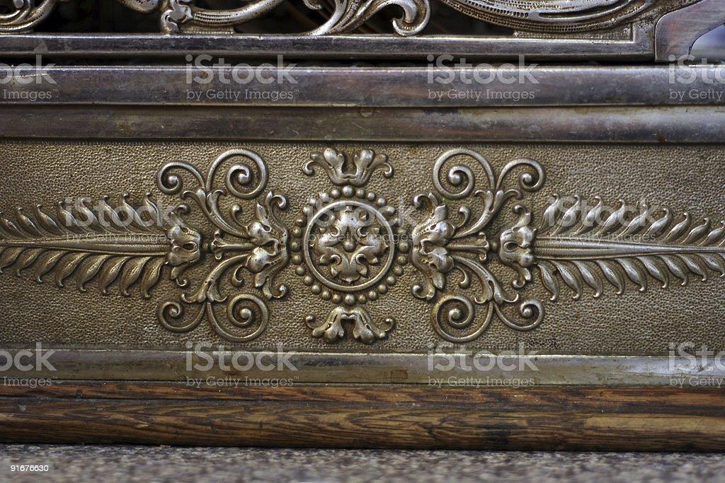 Closeup of antique cash register 3 stock photo